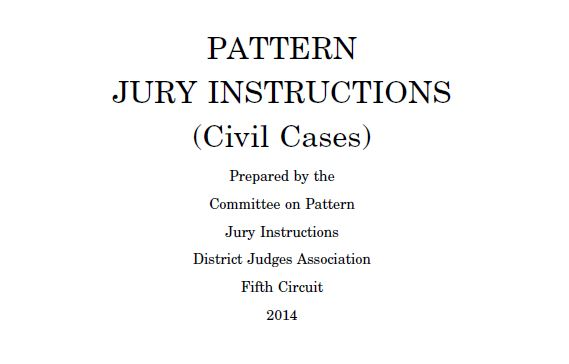 Cover Page from 2014 Civil Jury Instructions